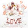 Folieballong Love, roséguld - PartyDeco