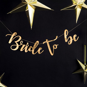 Girlang Bride to Be, Guld - PartyDeco