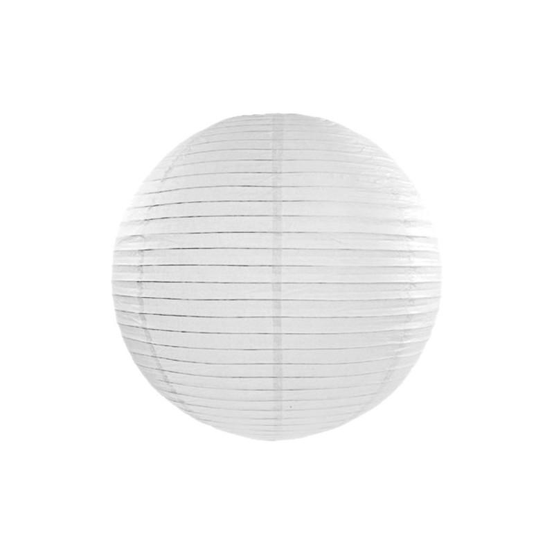 Lanterna vit Ø20 cm - PartyDeco