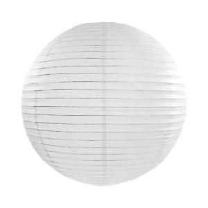 Lanterna vit Ø25 cm - PartyDeco