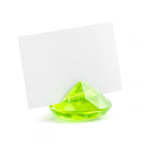 Bordsplaceringshållare Diamant, ljusgrön - PartyDeco