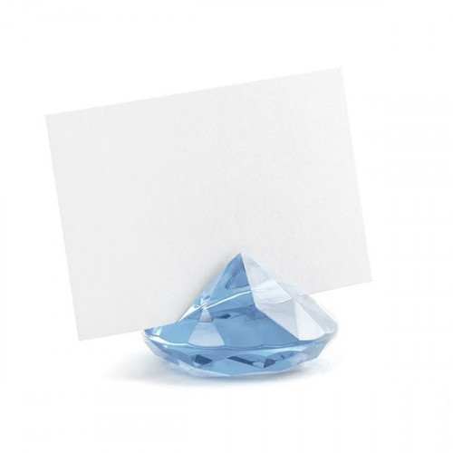Bordsplaceringshållare Diamant, ljusblå - PartyDeco