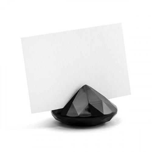 Bordsplaceringshållare Diamant, svart - PartyDeco