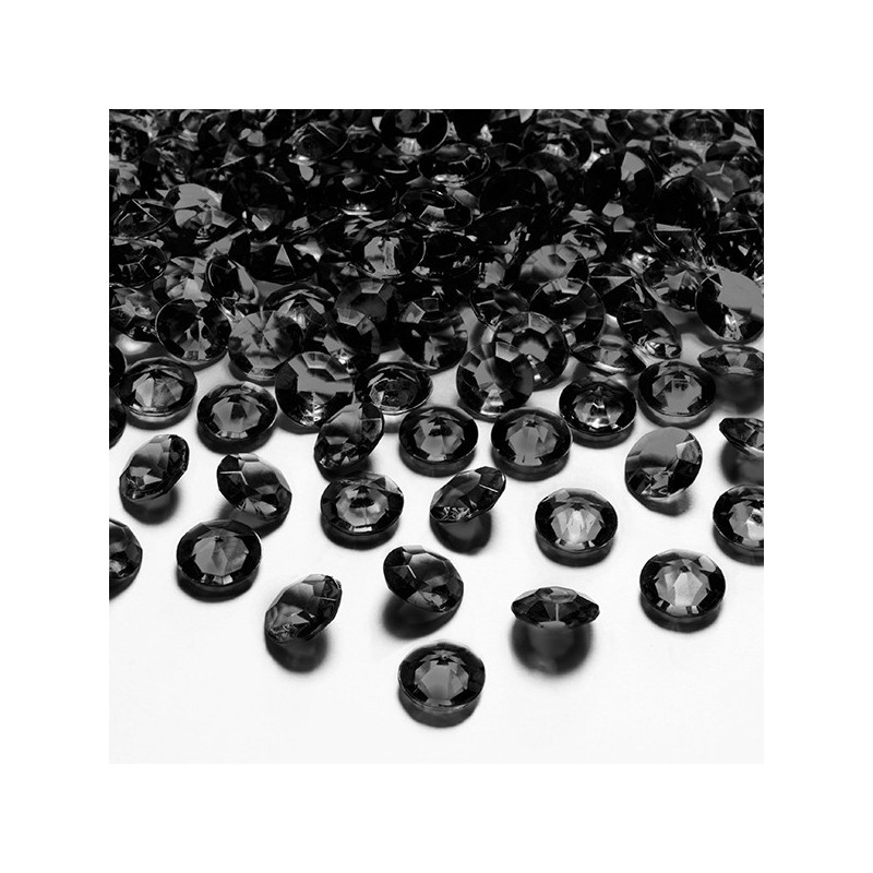 Diamantkonfetti Svart - PartyDeco
