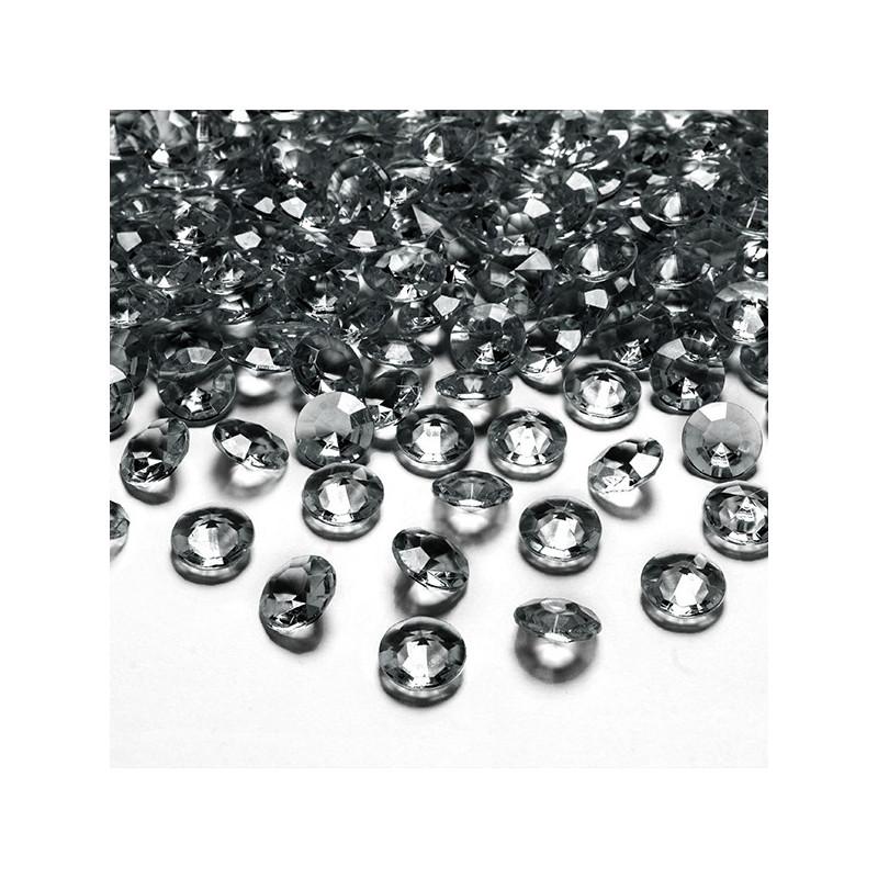 Diamantkonfetti Grå - PartyDeco