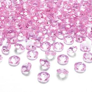 Diamantkonfetti Ljusrosa - PartyDeco