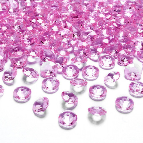 Diamantkonfetti Rosa - PartyDeco