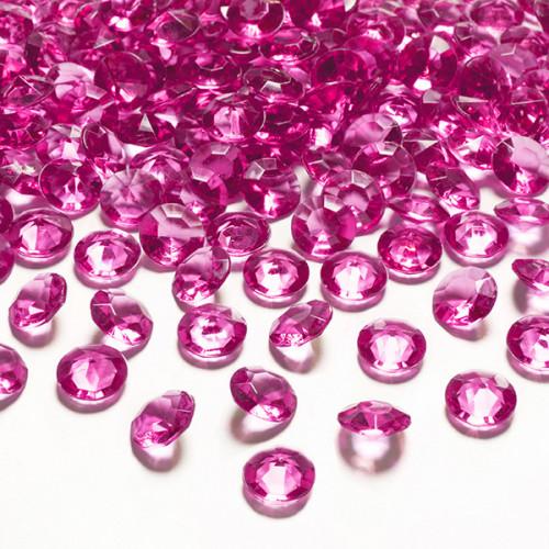 Diamantkonfetti Mörkrosa - PartyDeco