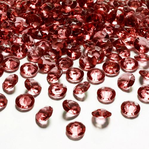 Diamantkonfetti Mörkröd - PartyDeco