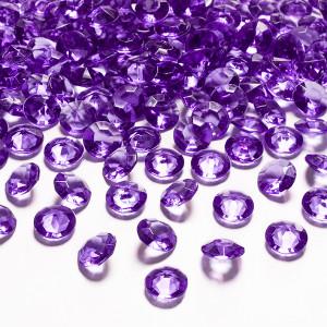 Diamantkonfetti Mörklila - PartyDeco