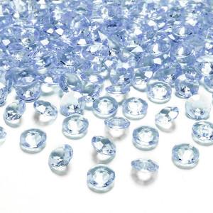 Diamantkonfetti Ljusblå - PartyDeco