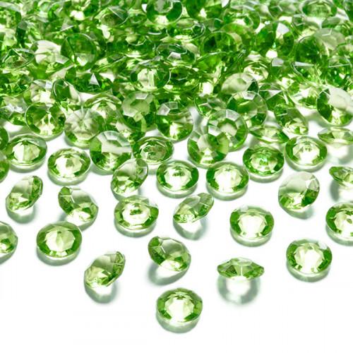 Diamantkonfetti Ljusgrön - PartyDeco