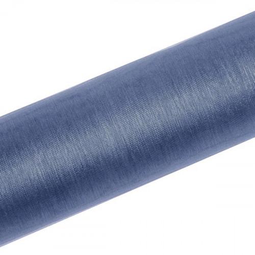 Organza, Mörkblå 0.16x9 m - PartyDeco