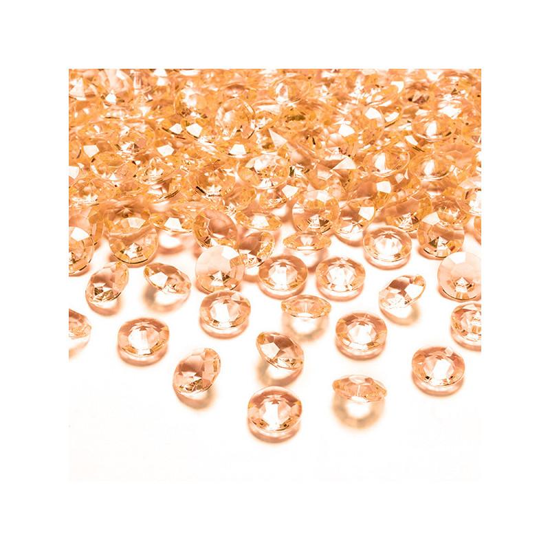 PartyDeco Bordsdekorationer Diamanter, orange