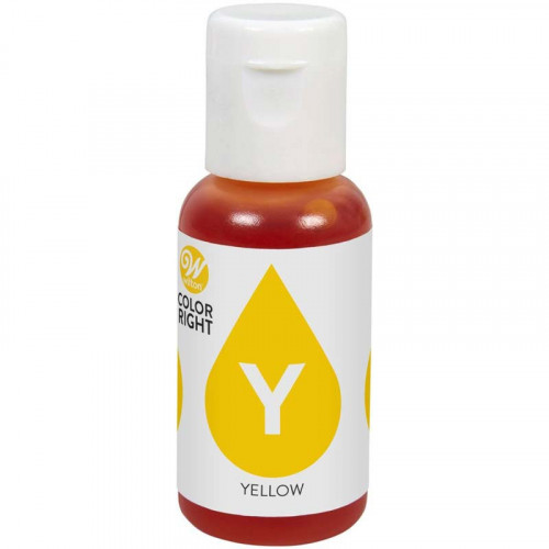 Wilton Color Right Livsmedelsfärg refill, Yellow