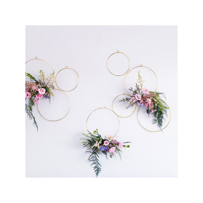 Hängande dekorationer cirklar - PartyDeco