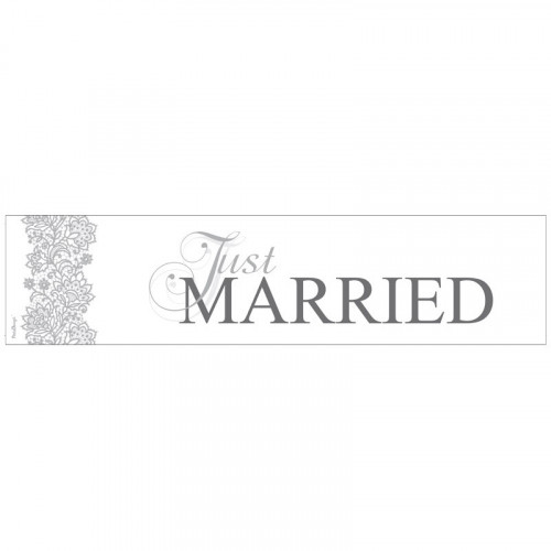 Registreringsskylt Just Married, Silver - PartyDeco