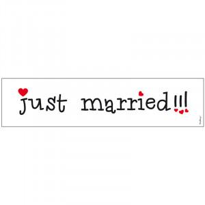 Registreringsskylt Just Married - PartyDeco