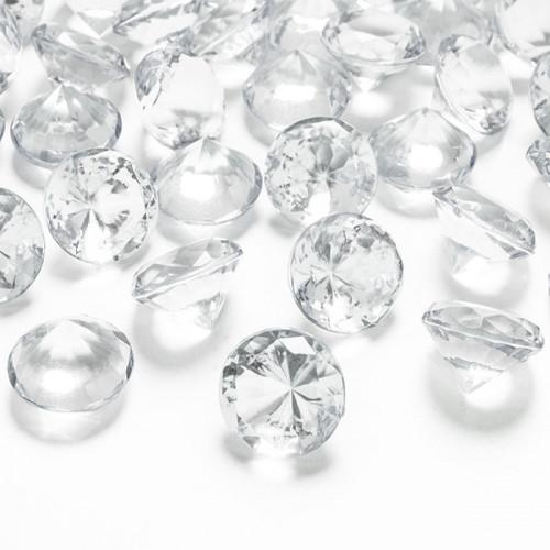 Diamantkonfetti 2 cm - PartyDeco