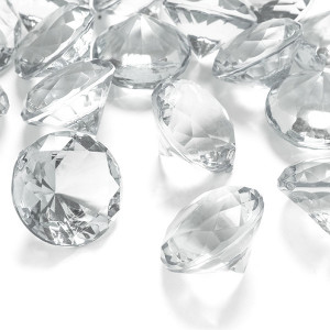 Diamantkonfetti 3 cm - PartyDeco