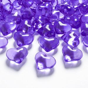 Diamantkonfetti Hjärtan Lila - PartyDeco