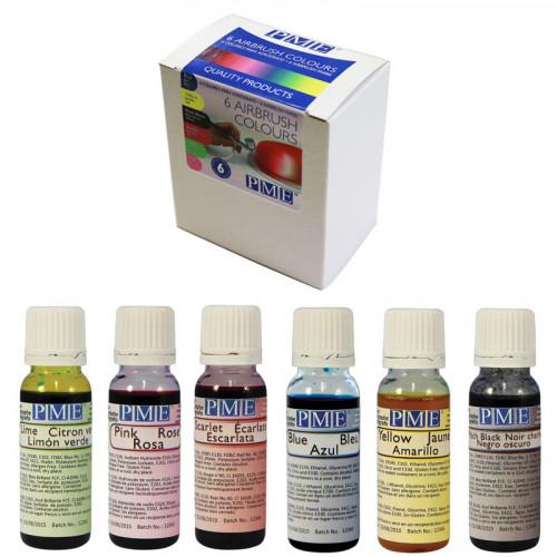 Airbrush färger 6 st - PME
