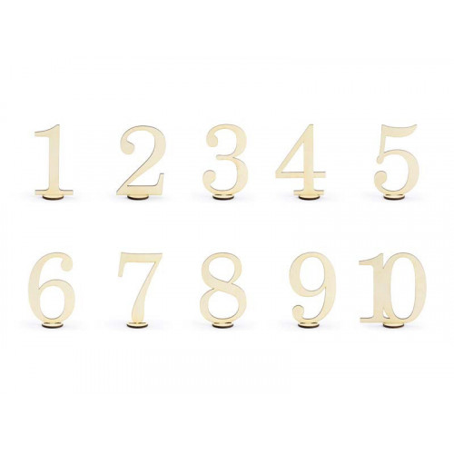 Bordsnummer i trä - PartyDeco