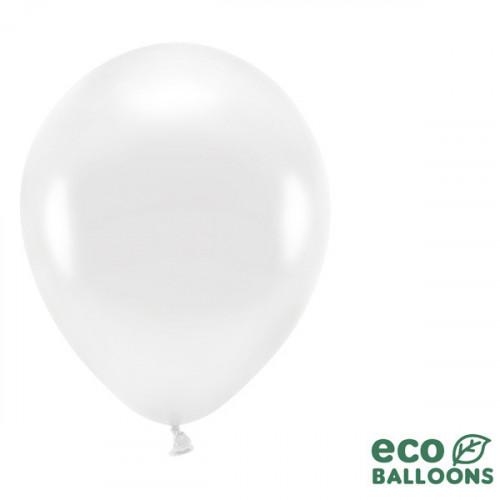 Ekologiska ballonger, metallic vit