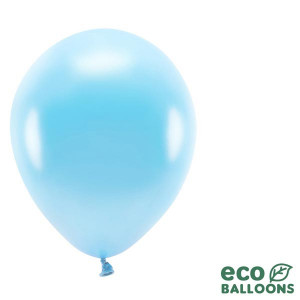 Ekologiska Ballonger, Metallic Ljusblå