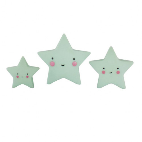 Mini Cake Topper set, Stjärnor Mint