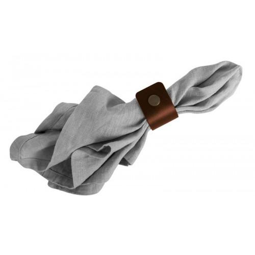Bruna servettringar i läder
