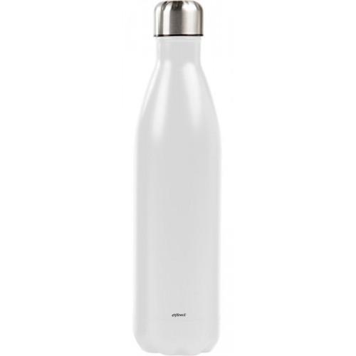 Vit Ståltermos Flaska - Exxent