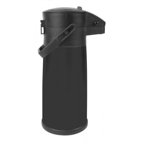 Svart pumptermos 2,2 liter