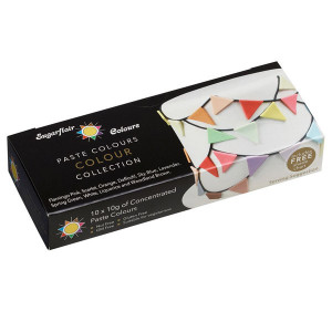 Pastafärger, 10 st små förpackningar - Sugarflair