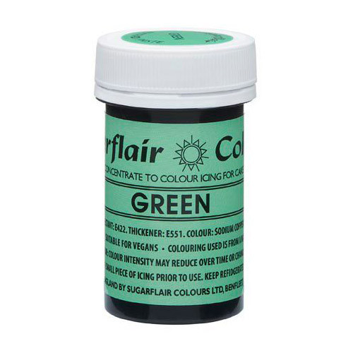Grön Pastafärg NatraDi - Sugarflair