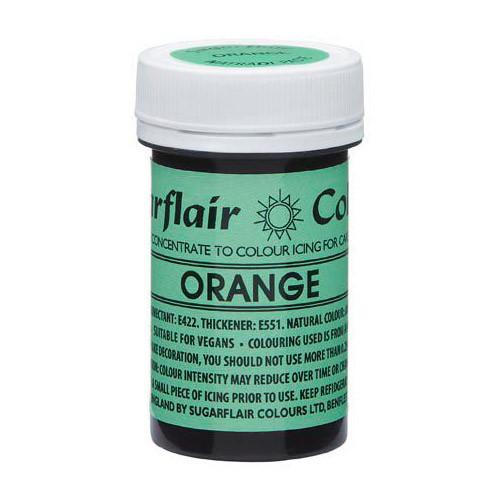 Pastafärg NatraDi, Orange - Sugarflair