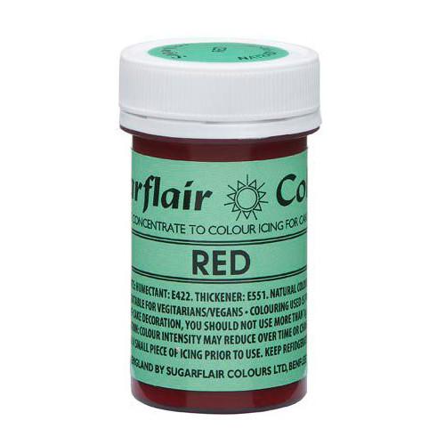 Pastafärg NatraDi, Röd - Sugarflair