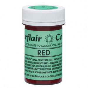 Röd Pastafärg NatraDi - Sugarflair