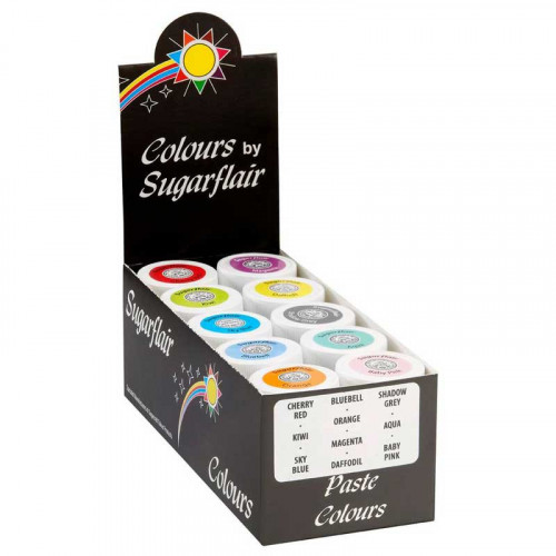 Pastafärger Pastellfärger, 10 st - Sugarflair