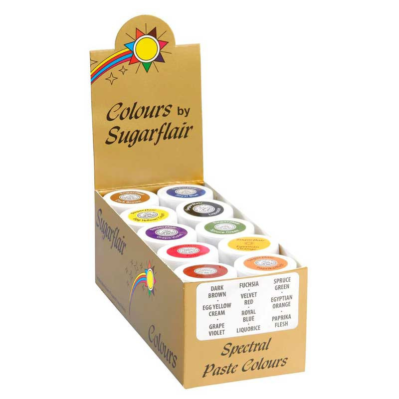 Pastafärger 10-pack - Sugarflair
