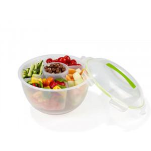 Frukt- och salladsskål med insats