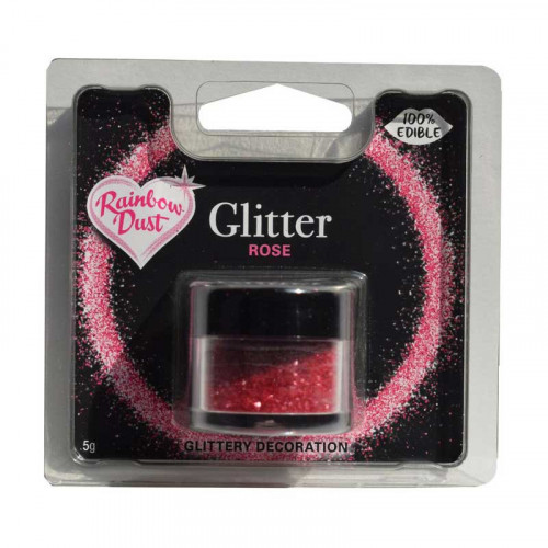 Ätbart glitter Rose - Rainbow Dust