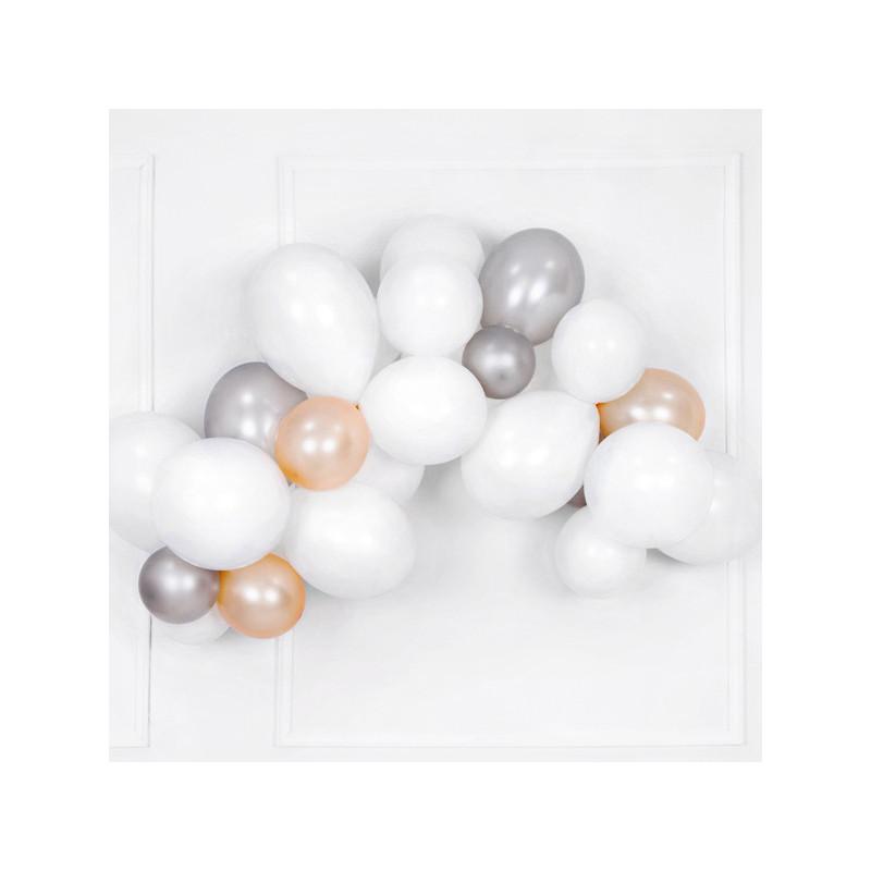 Vita ballonger, 10-pack - PartyDeco