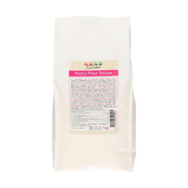Vetemjöl, 1 kg, Pastry Flour Deluxe - FunCakes