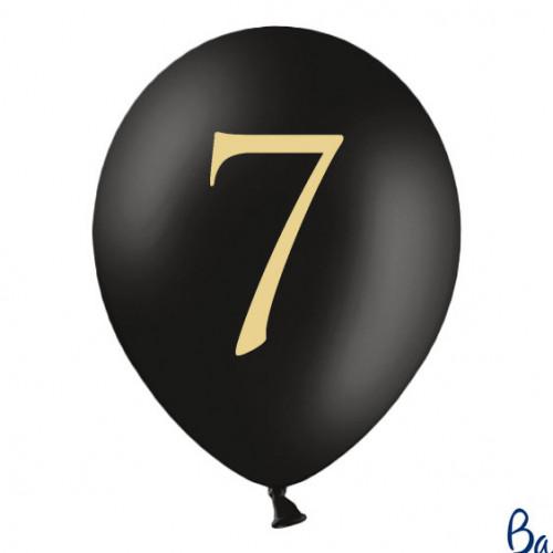 Svarta Ballonger Siffran 7, 50-pack - PartyDeco