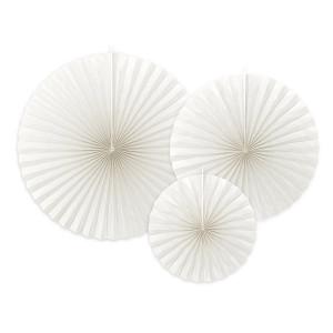 Dekorativa Pappersfjädrar, Off-white - PartyDeco