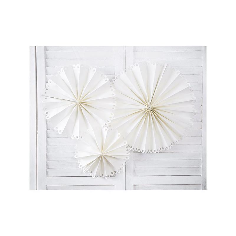 Dekorativa Rosetter Stor, Off-white - PartyDeco