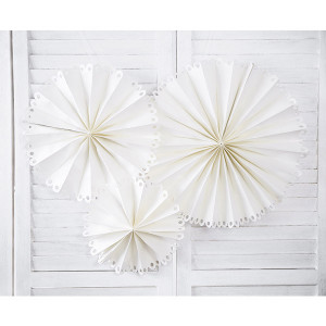Dekorativa Pappersfjädrar Stor, Off-white - PartyDeco