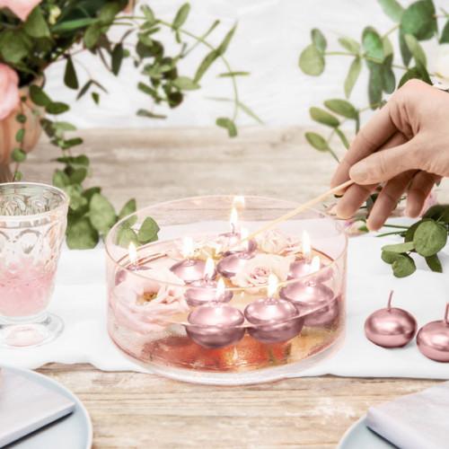 Flytande ljus Rosé Guld Metallic 50st - PartyDeco