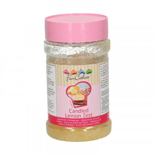 Kanderad Citroncest, Citronskal - FunCakes